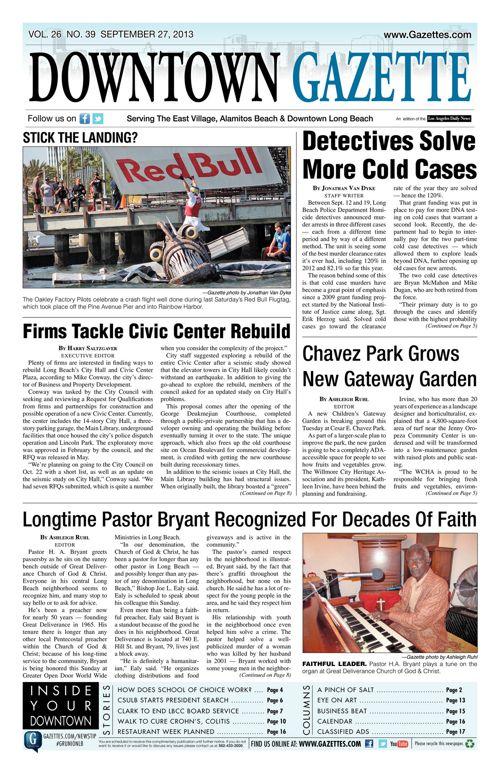 Downtown Gazette  |  September 27, 2013