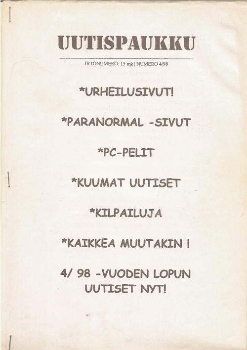 Uutispaukku 4/1998