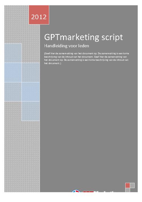 GPTmarketing leden handleiding