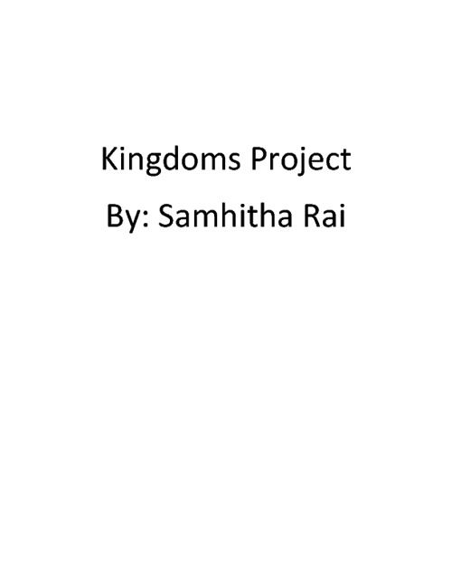 Kingdoms Project