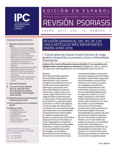 Revisión Psoriasis - Enero 2017