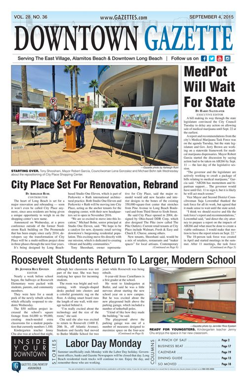 Downtown Gazette  |  September 4, 2015