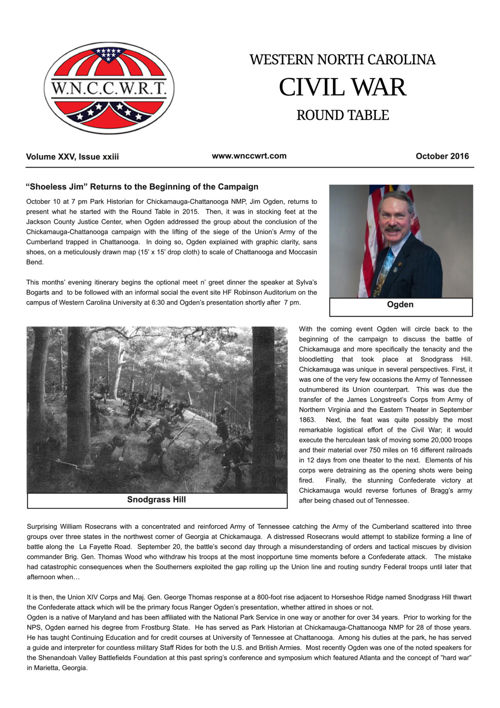 2016 10 October WNCCWRT Newsletter