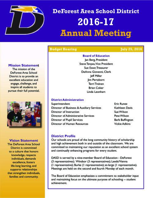 DASD Annual Meeting, 2016-17