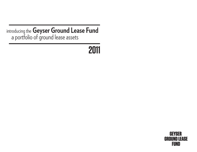Geyser Ground Lease