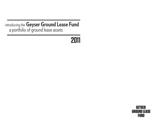 Geyser Ground Lease