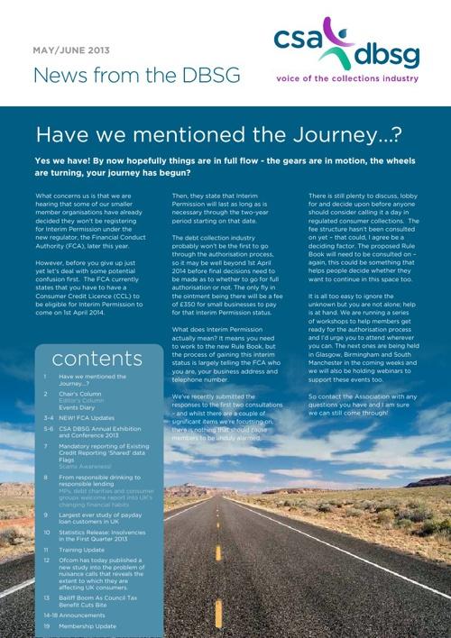 DBSG Newsletter May-June 2013