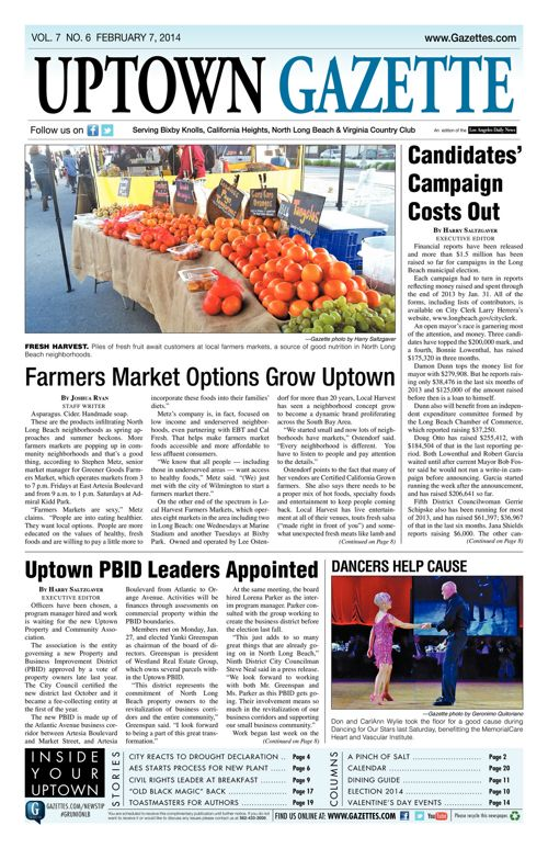 Uptown Gazette  |  February 14, 2014