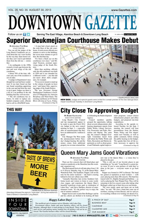 Downtown Gazette  |  August 30, 2013