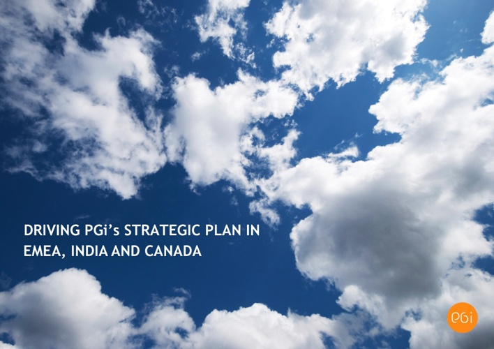 Driving PGi's Strategic Plan in EMEA, India and Canada
