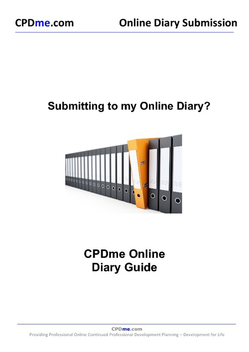 Online CPD Diary Submission