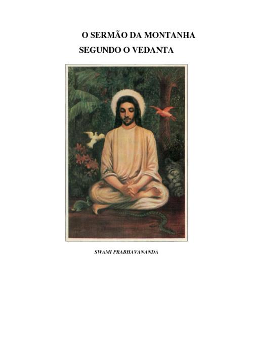 O Sermão da Montanha segundo a Vedanta