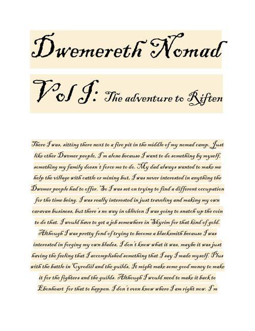 Dwemereth Nomad Vol I
