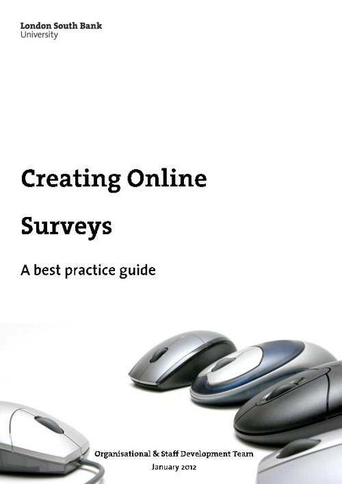 Creating Online Surveys  - A best practice guide