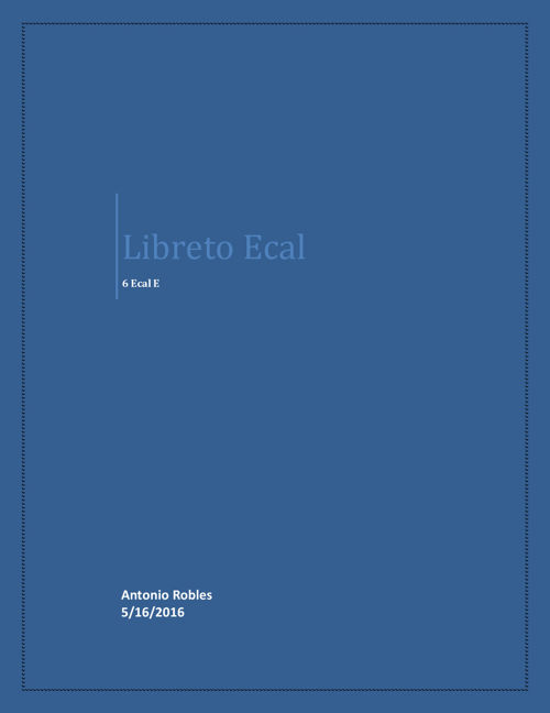 libreto ecal 6 Antonio Robles