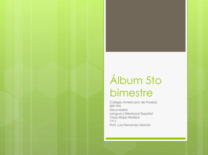 Álbum 5to bimestre