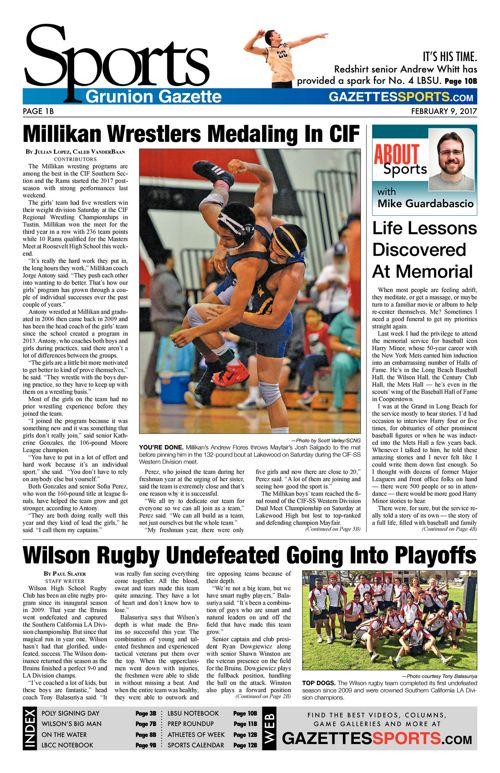 Gazette Sports     February 9, 2017