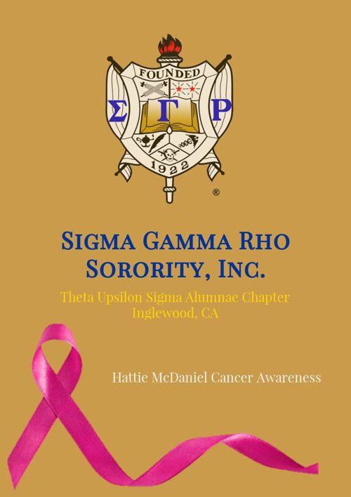 SGRho TUS | Hattie McDaniel Cancer Awareness Program