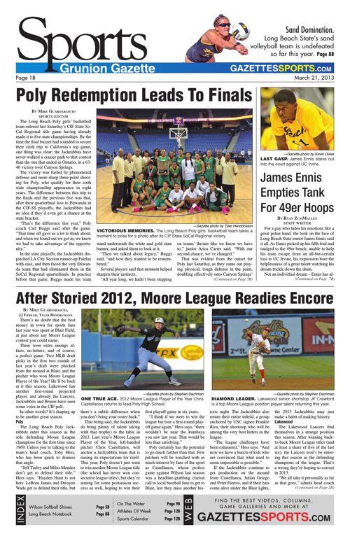 Gazette Sports | March 21, 2013