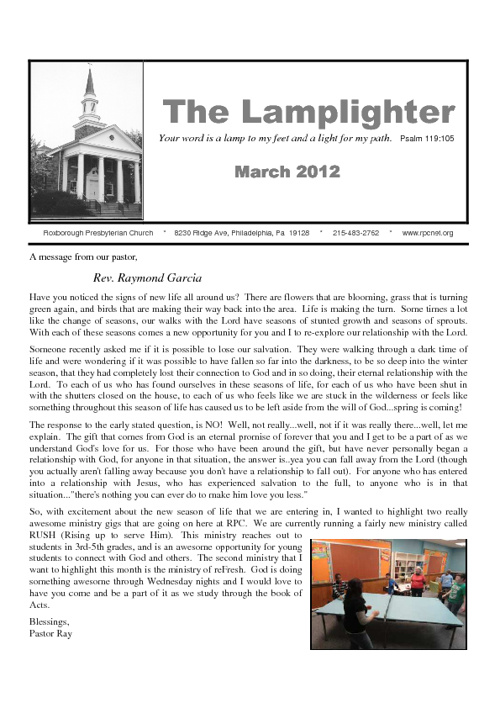 RPC Lamplighter March 2012