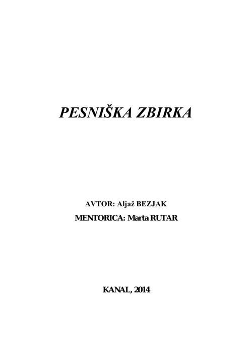 Pesniška zbirka