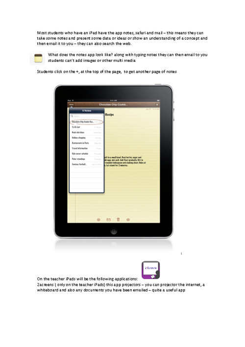 iPad ideas for staff