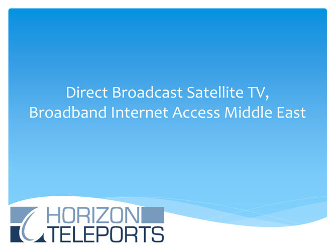 Direct To Home Broadcast