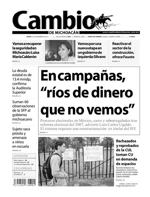 Cambio de Michoacán 1 Septiembre 2011