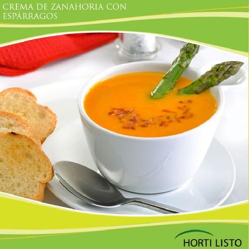 Crema de Zanahoria con Esparragos