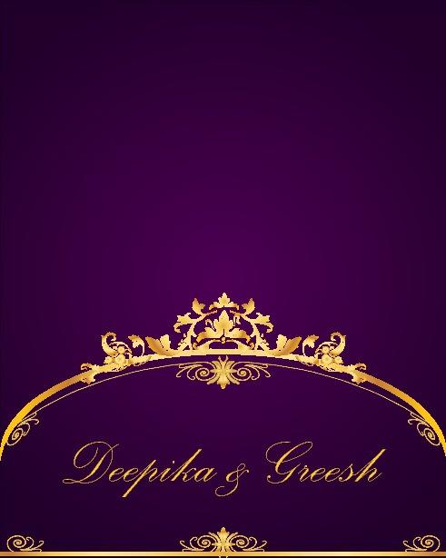 Deepika & Greesh Wedding Invitation