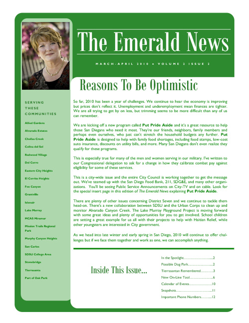 The Emerald News: Volume 2, Issue 2 (March/April 2010)