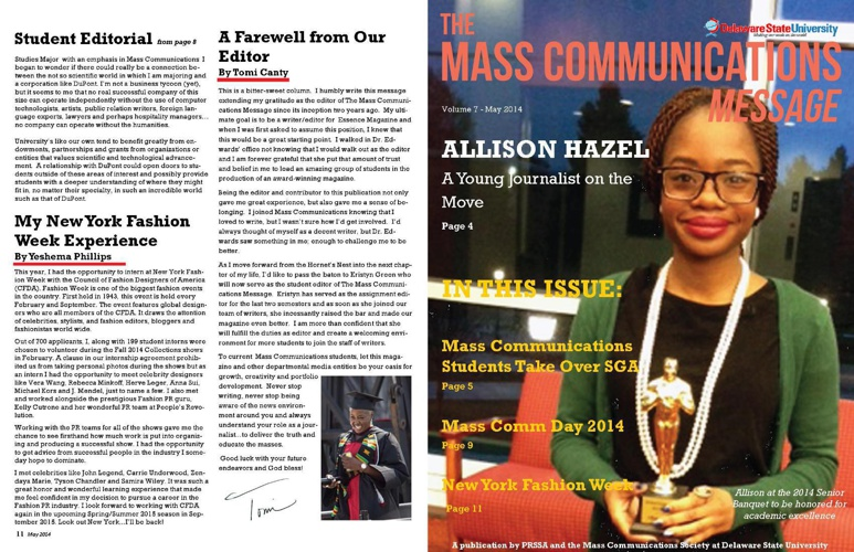 Mass Comm Message - May 2014 Issue