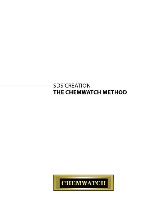 SDS Creation - Chemwatch Method