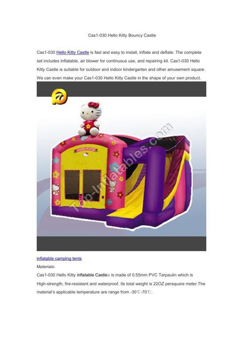 Cas1-030 Hello Kitty Bouncy Castle