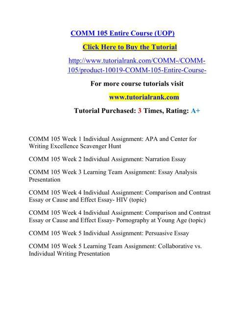 COMM 105 Potential Instructors/tutorialrank