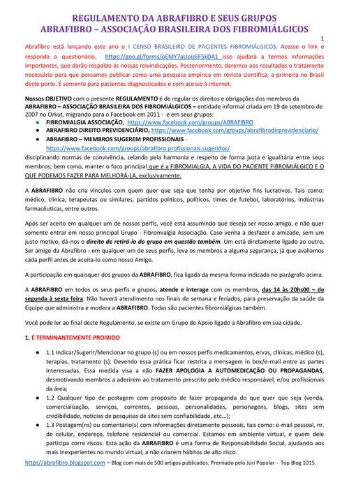 REGULAMENTO DA ABRAFIBRO NR 38 DE 20-04-2017
