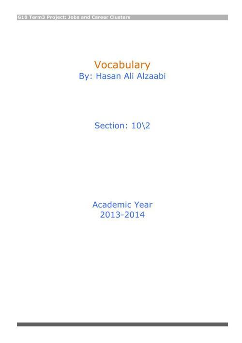 Eng vocabulary Hasan Alzaabi