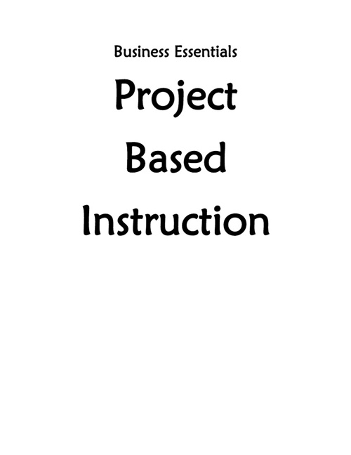 Standard 1: #3 Project-Based Instruction