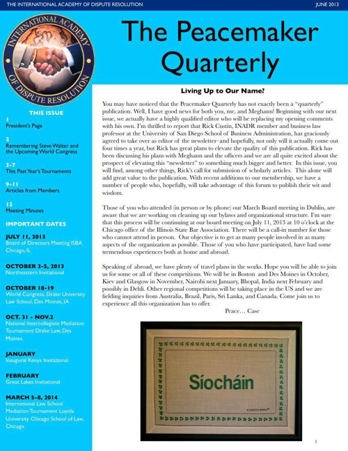 Peacemaker Quarterly June 2013