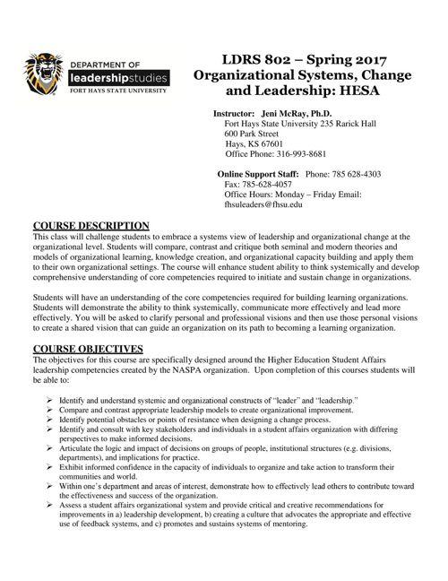 LDRS 802_HESA_Virtual_SP2017
