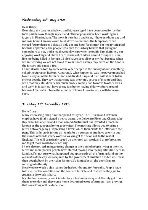 Jack Tween History Assignment