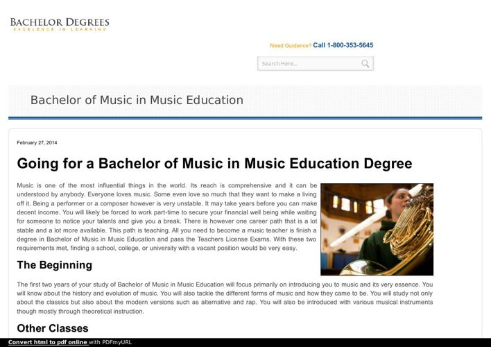 Bachelor of music education Your pathway to a high income Job