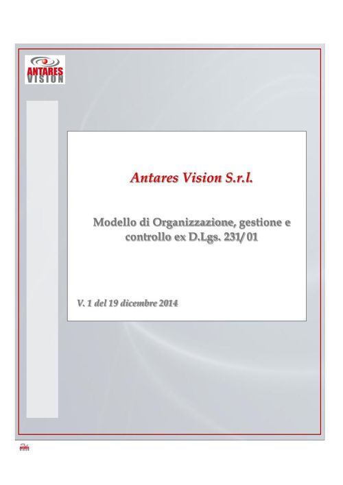 MODELLO DI ORGANIZZAZIONE, GESTIONE E CONTROLLO EX D.LGS. N. 23