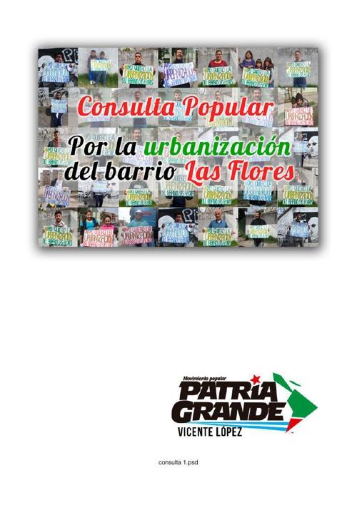 Consulta Popular Barrio Las Flores