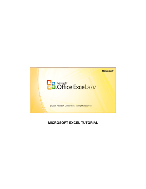 Help with MS Excel 2007 and 2010