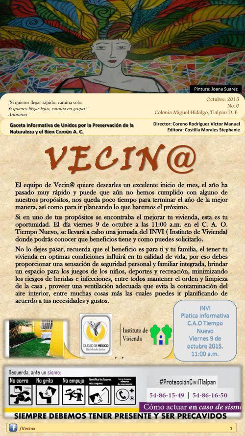 Vecinx #1 Octubre 2015