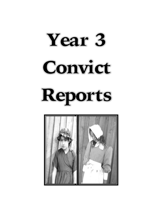 Year 3 convict report booklet