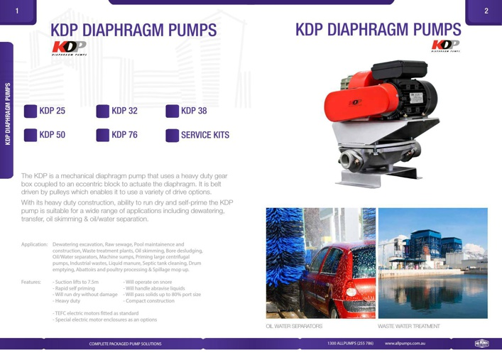 KDP Diaphragm Pumps