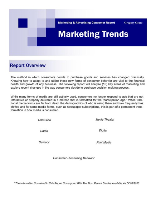 Trends In Marketing