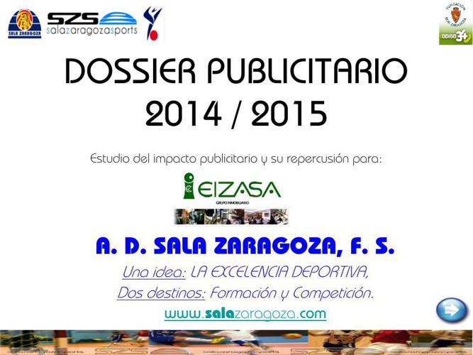 DOSSIER PUBLICITARIO 2014_15 EIZASA